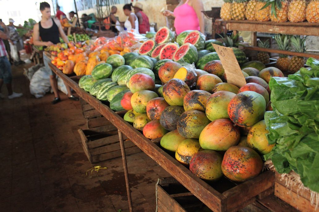 Fruit stand in Cuba